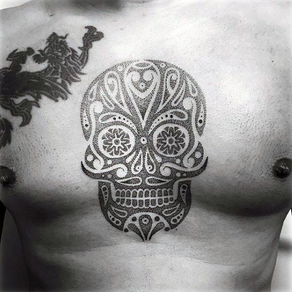 100 Sugar Skull Tattoo Designs For Men Cool Calavera Ink Ideas Candy Skull Tattoo Mexican Skull Tattoos Sugar Skull Tattoos