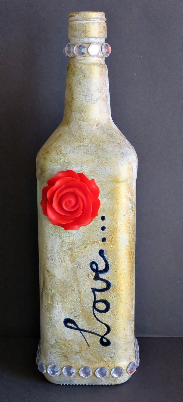 Wedding decorations with wine bottles  DIY Wine Bottle Centerpiece  Wedding Centerpieces  Pinterest