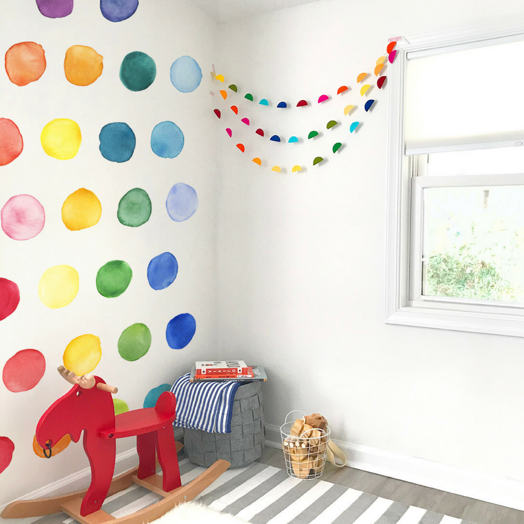 Best Large Rainbow Dots Wall Decals In 2020 Kids Room Wall 640 x 480