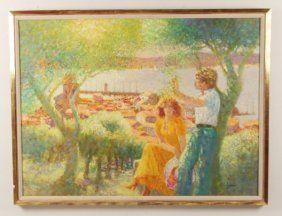Louis Fabien, Impressionist Oil On Canvas Painting