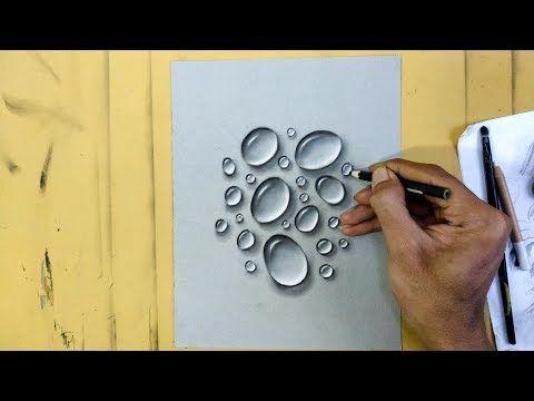 Menggambar Sketsa Pensil 3d Water Realist Di Kertas Kraft Youtube