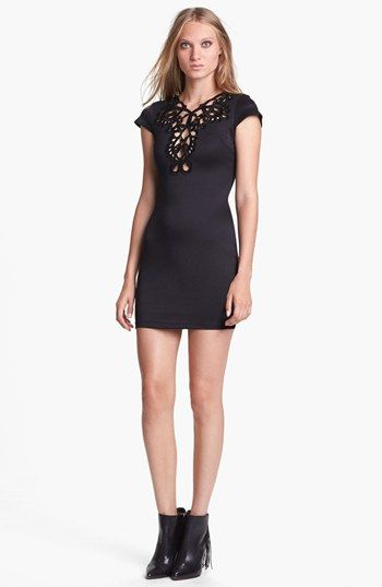 One Rad Girl Lace Neck Body-Con Dress available at #Nordstrom