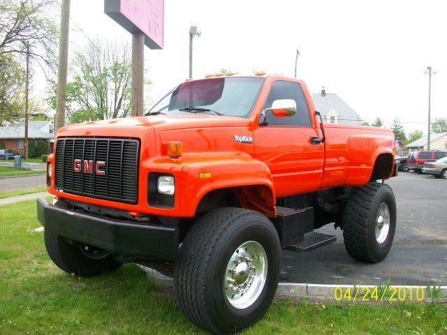 Gmc Topkick I Like The Single Tires Big Trucks Trucks Gmc Trucks