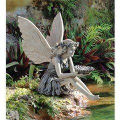 Design Toscano The Sunflower Fairy Garden Statue   EU41620 Garden Statues,  Fairy Statues, Garden