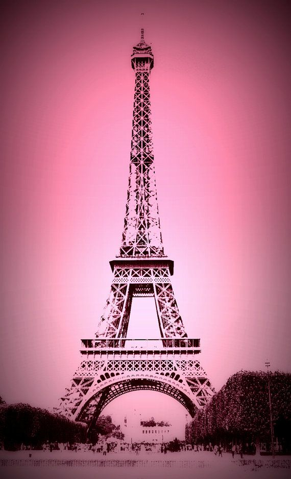 Eiffel Tower Pink background perfect for girl's by ...