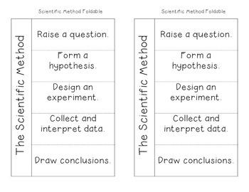 Scientific Method Foldable Scientific Method Scientific Method Foldable Graphic Organizers