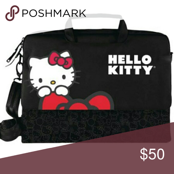 3376cb826 Hello Kitty Laptop Case Brand New. Never used. Has lots of pockets to put  school supplies in. More pictures to come. Can carry a 15