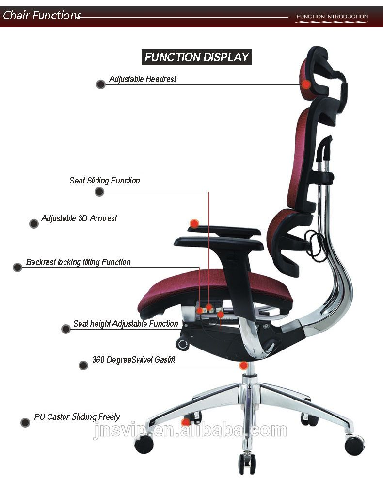 Jns 802 Ergonomic High Back Office Chair Stylish Office Chairs