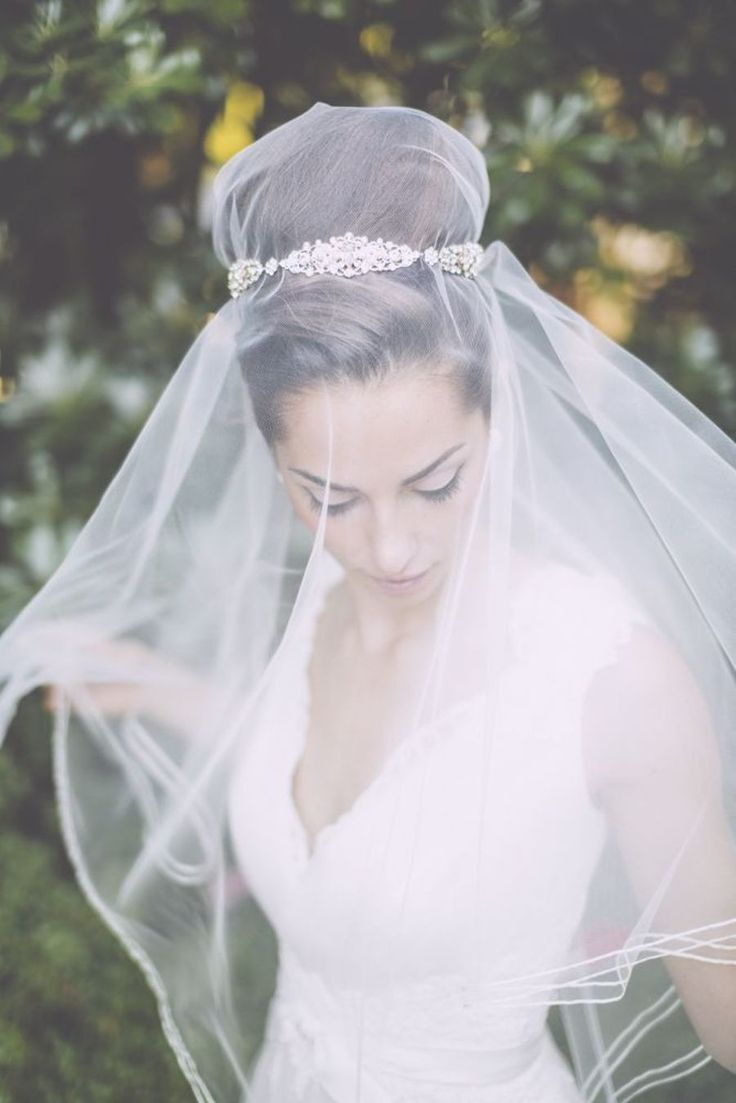 ideas for beautiful bridal veil and wedding hairstyle combinations ...