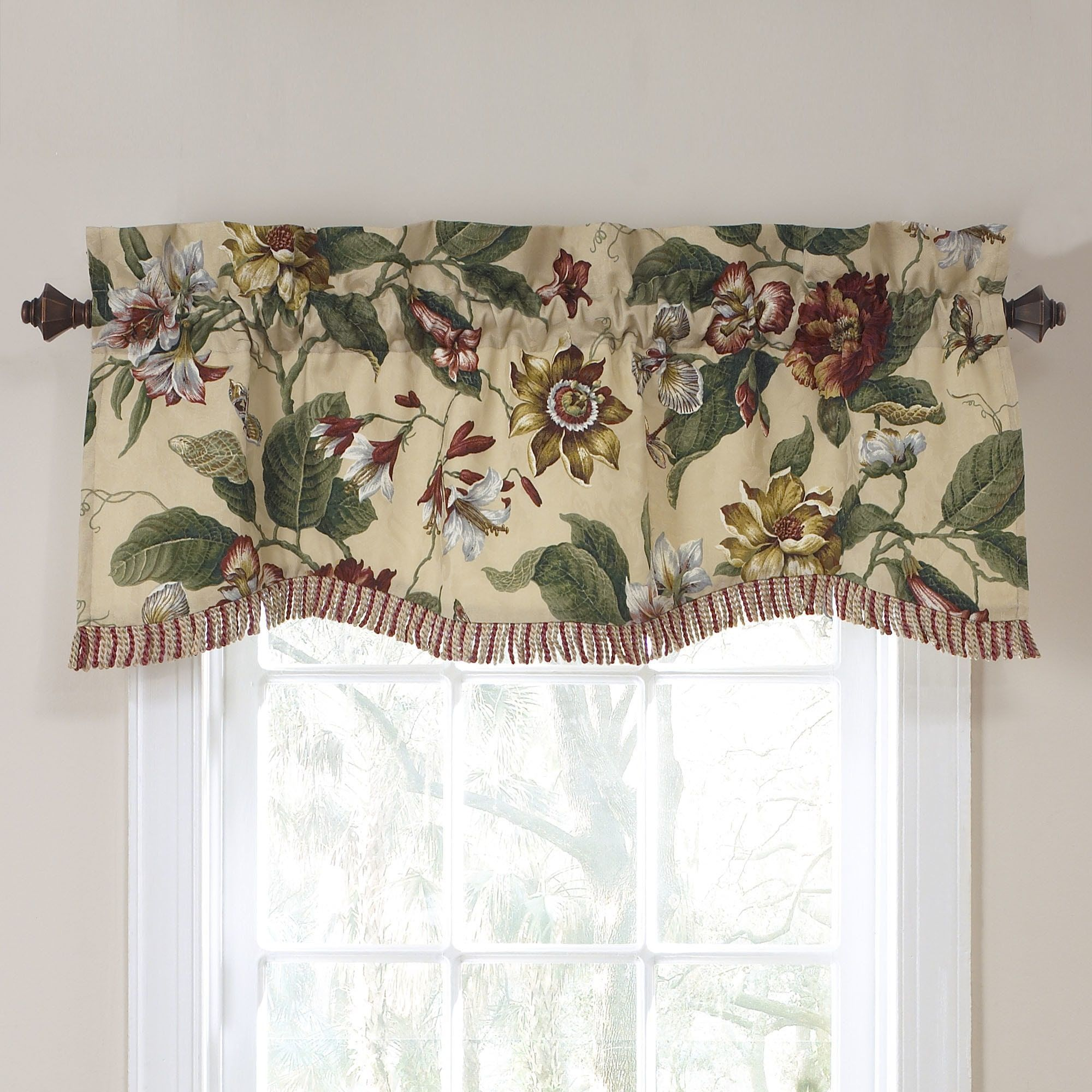 Waverly laurel springs lined window valance x parchment