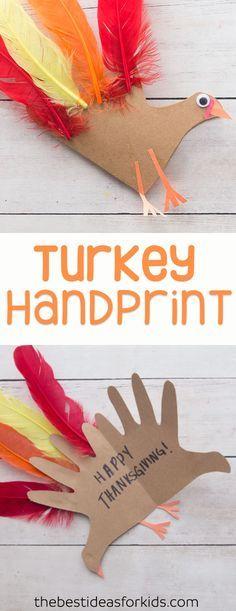 Turkey Handprint Craft With Poem