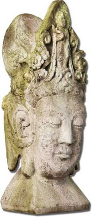 Asian Head Statue Sculpture