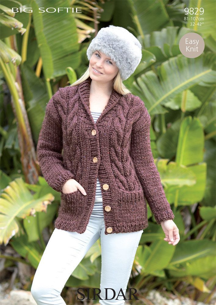 b7c3cd306 Cardigan in Sirdar Big Softie Super Chunky - 9829 - Downloadable PDF.  Discover more patterns by Sirdar at LoveKnitting. The world s largest range  of ...