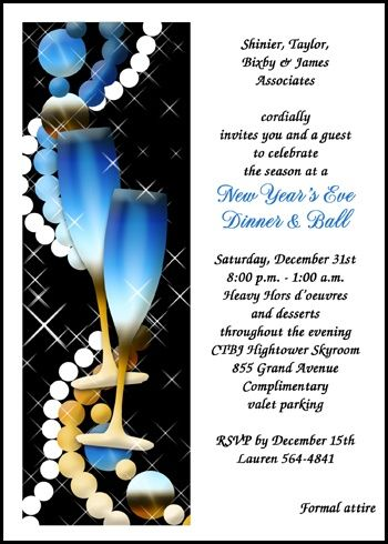 Lots Of Business And Company New Years Toast Party Champagne Invites Such As Card Number 7541ib Holiday Invitations Party Invitations Holiday Party Invitations