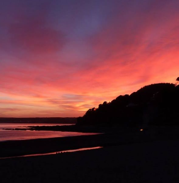 Sunset from the sofa in Fistral Bay, by Sue. #newquay #cornwall