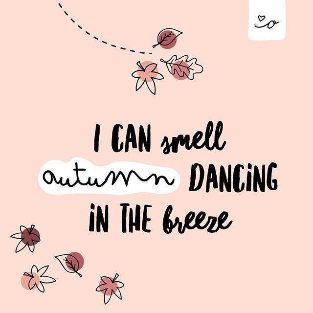 Wir lieben den Herbst odernichtoderdoch autumn breeze Herbst fall bunte Blätter halloween quotes mit ganz viel Herz  on Instagram Hallo Herbst schön dass du da...