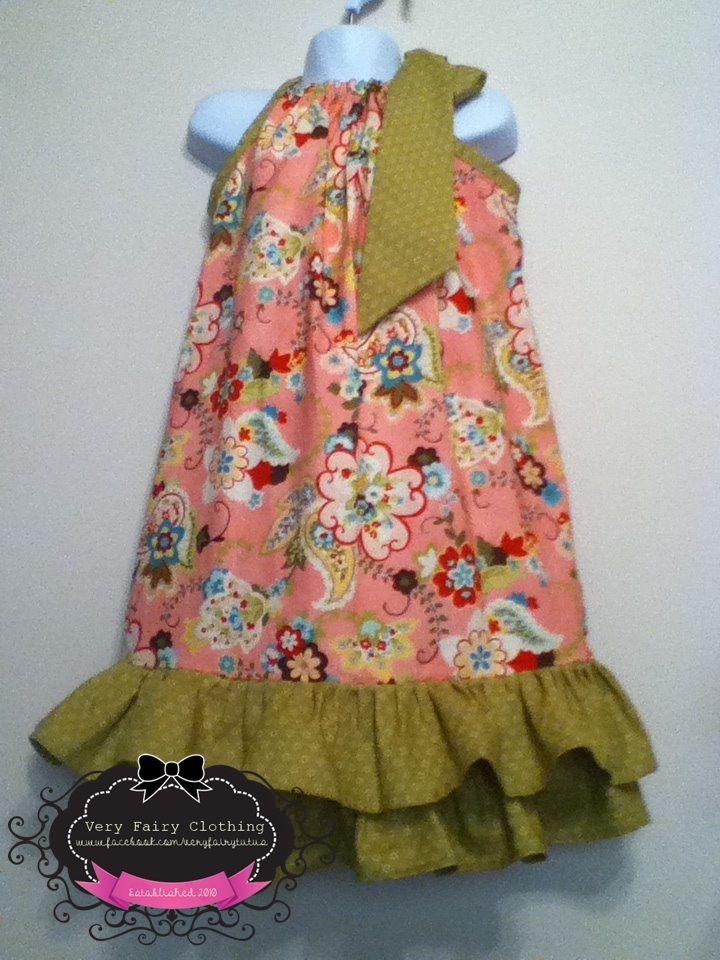Custom Double Ruffle Pillowcase Dress made by Very Fairy www.facebook.com/veryfairytutus