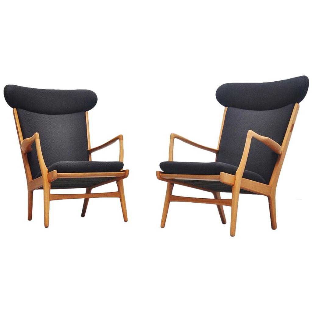 Hans J Wegner AP-15 Wingback Chairs AP Stolen, 1951