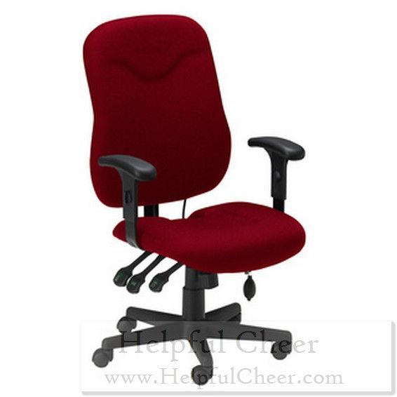 Mayline Comfort Series Burgundy Executive Posture Chair - at - 0153 - Your On