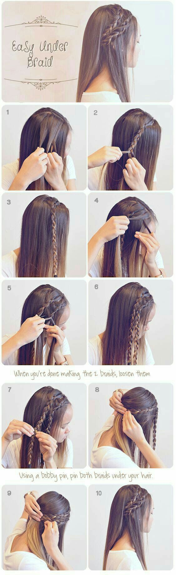 Easy under braid easiest u beautiful step by step braid