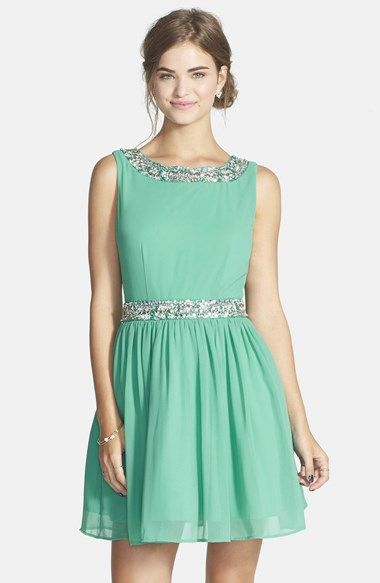 8c32838fda9 Way-In Embellished Skater Dress (Juniors) available at  Nordstrom ...