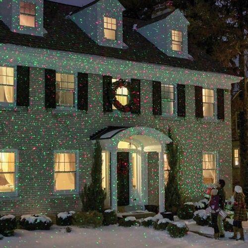 christmas laser lights outdoor led projector shower string garden halloween starshower