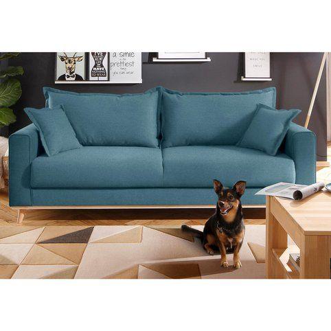 Canapé 3 places style scandinave en tissu