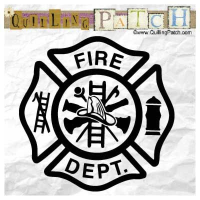 Volunteer Firefighter Decal Sticker Fire Department Maltese Cross Car Window