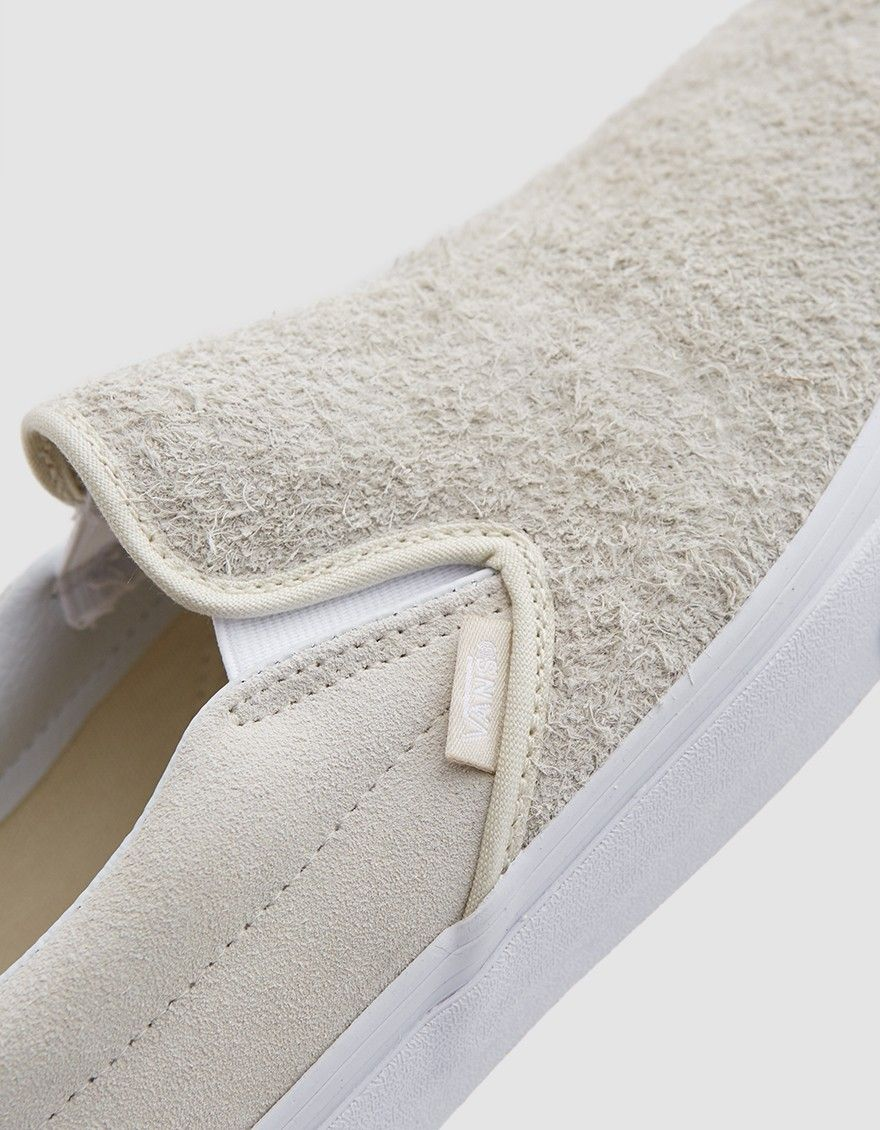 a5e25f68f2 Vans classic slip-ons with a  hairy  suede upper in turtledove.