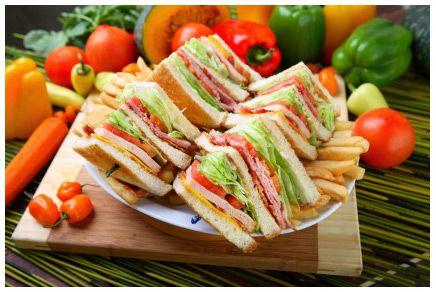 turkey ham n cheese sandwiches