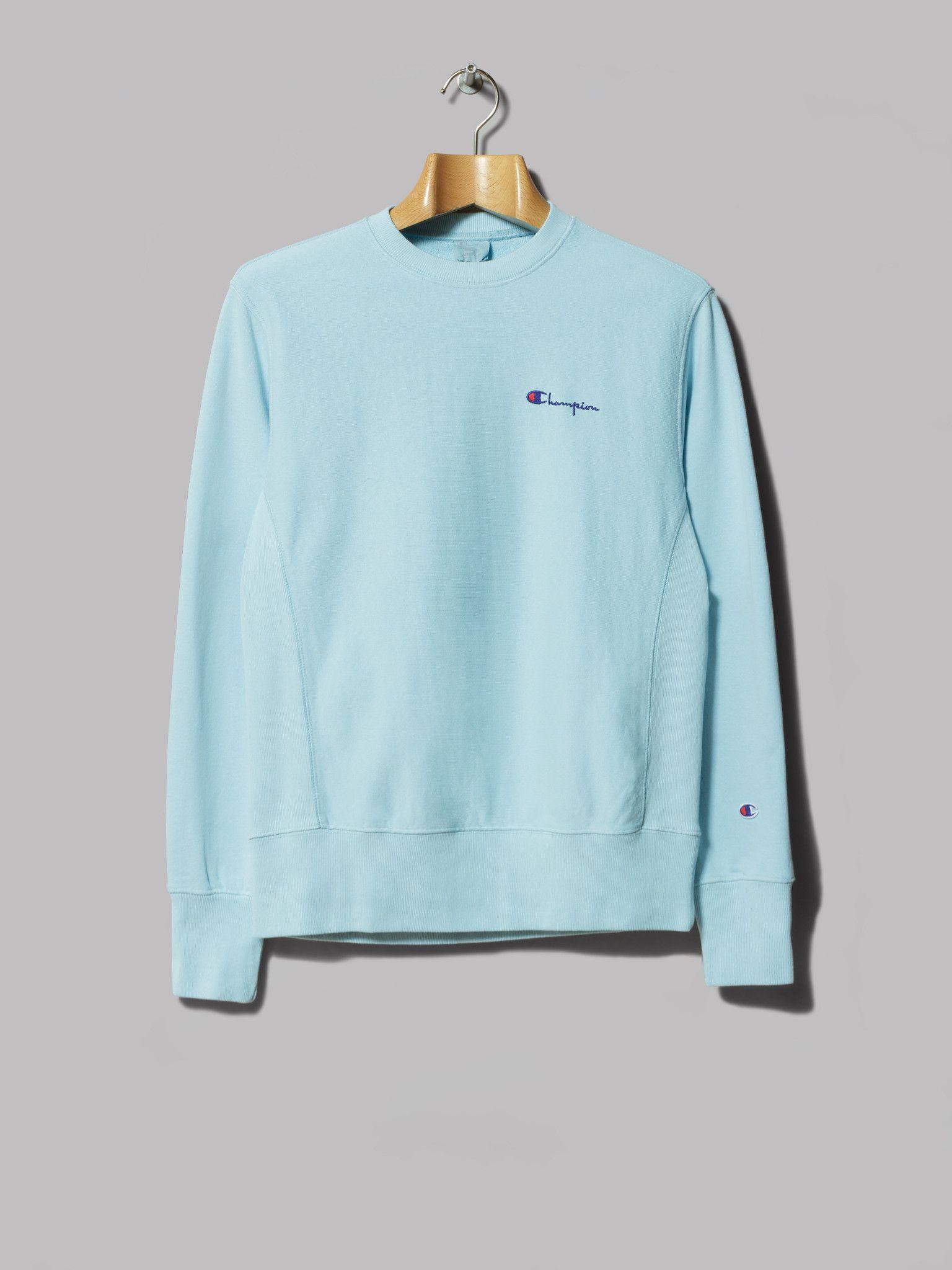 Champion Reverse Weave Crewneck Sweatshirt (Sky Blue)