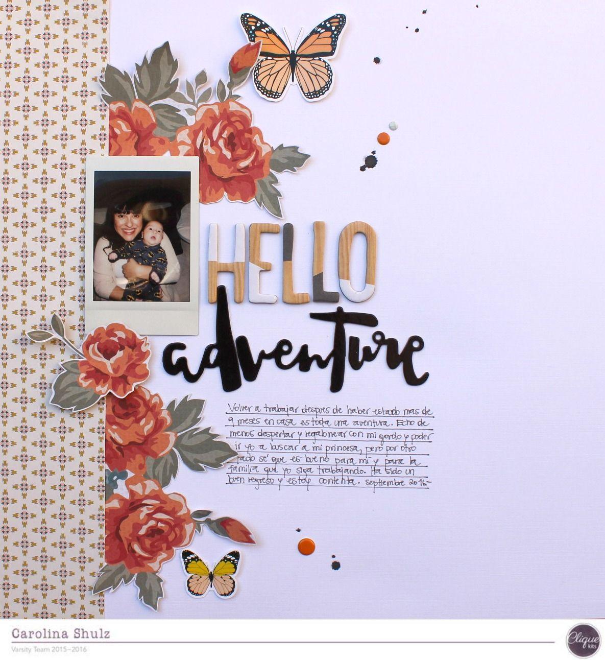 Hello Adventure - Kaisercraft - Boho Dreams Collection