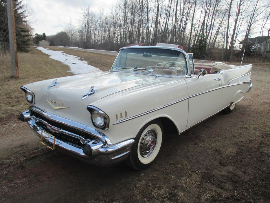 1957 Chevrolet-Bel Air Convertible | Tri Five Chevrolets | Pinterest ...