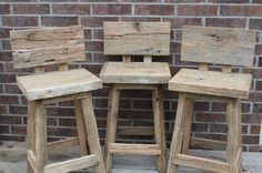 Staceys Custom Reclaimed Rustic and Recycled Oak Barn Wood Rectangle Top Bar Stool with Backs & Staceys Custom Reclaimed Rustic and Recycled by timelessjourney ... islam-shia.org