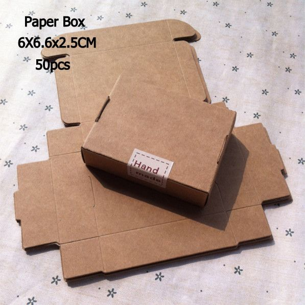 50pcs 4*4*2.5cm Aircraft Brown Gift Packaging Kraft Paper PackingBox Handmade Love Wedding\\Crafts\\Cake\\Handmade Soap\\Candy boxes