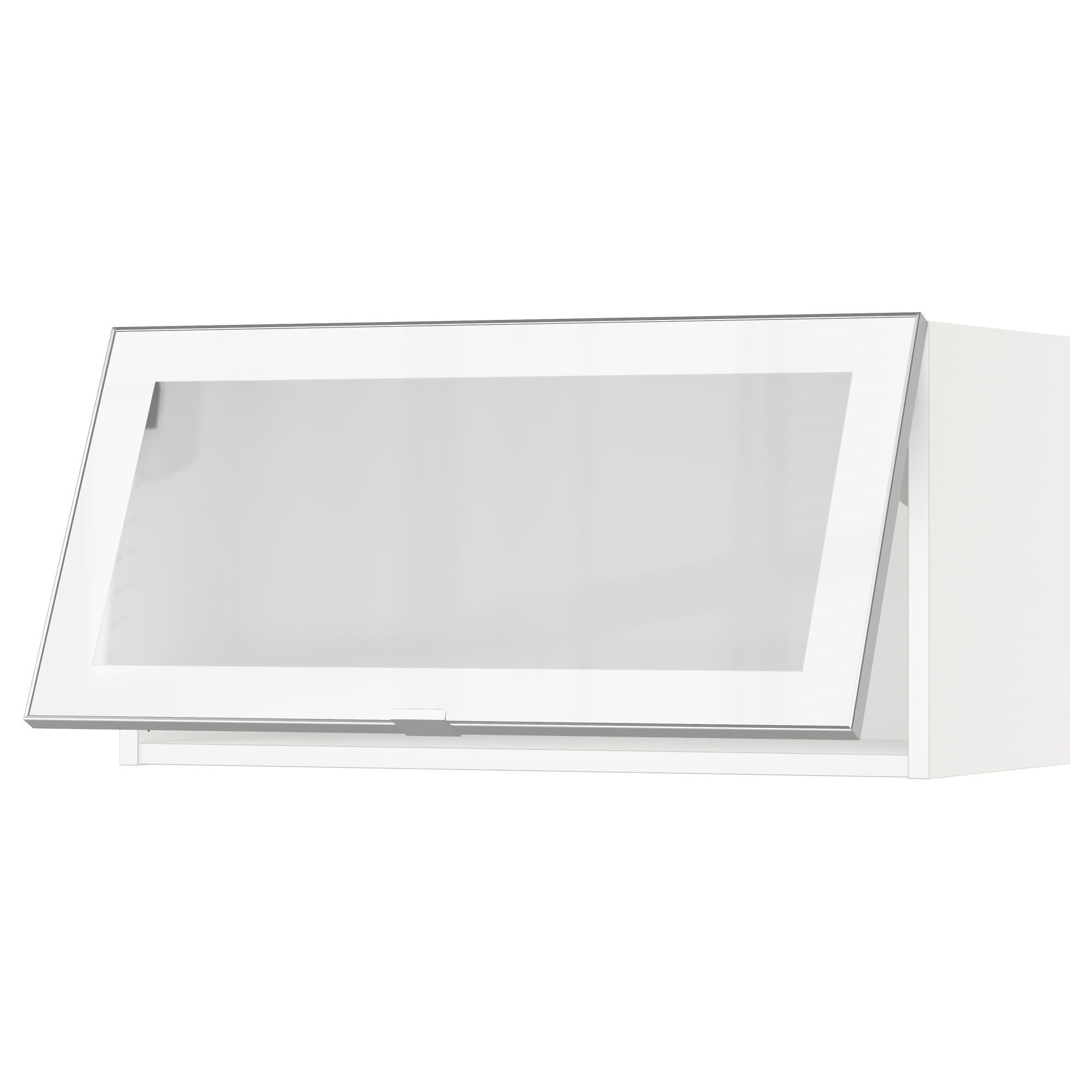 Ikea Sektion White Jutis Frosted Glass Horizontal Wall Cabinet Glass Door In 2020 Glass Door Ikea Wall Cabinets Ikea