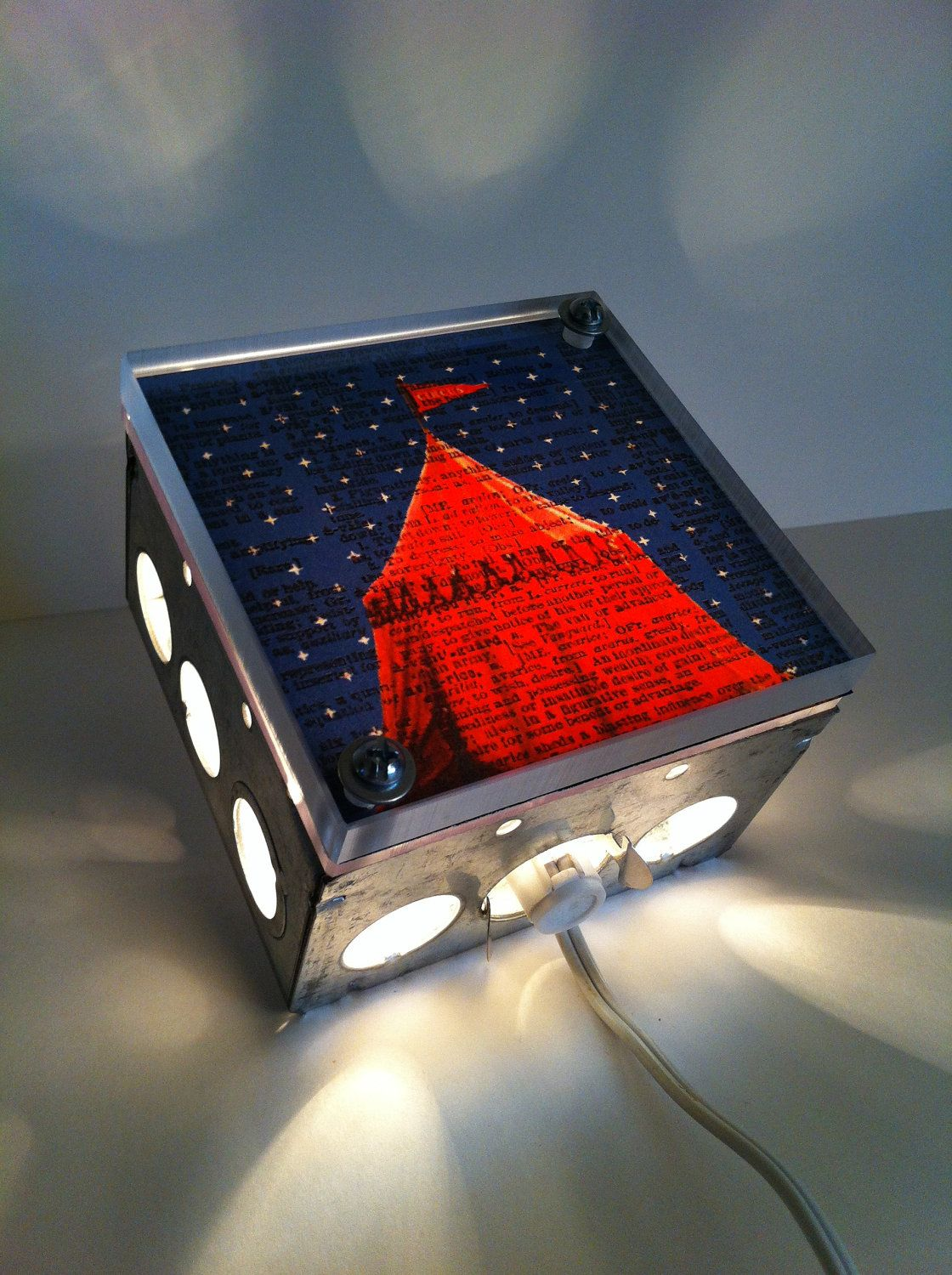 Starry Night Circus Tent Repurposed Vintage Dictionary