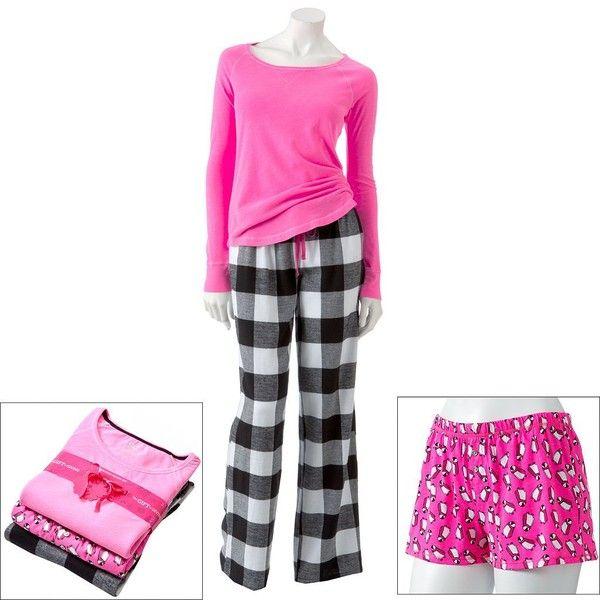 SO 3-pc. Printed Pajama Gift Set ($24) found on Polyvore