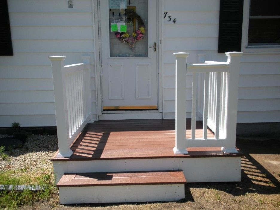 Charming Front Porch Deck Small Front Porch Design Without Roof