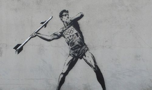 "New : Banksy Olympics !  One of the two street pieces he just produced  to show his ""support"" of the Olympics…"