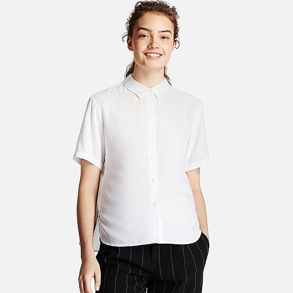 83f7d1daeb Pin by Julie G on spring cleaning | Short sleeve blouse, Uniqlo ...