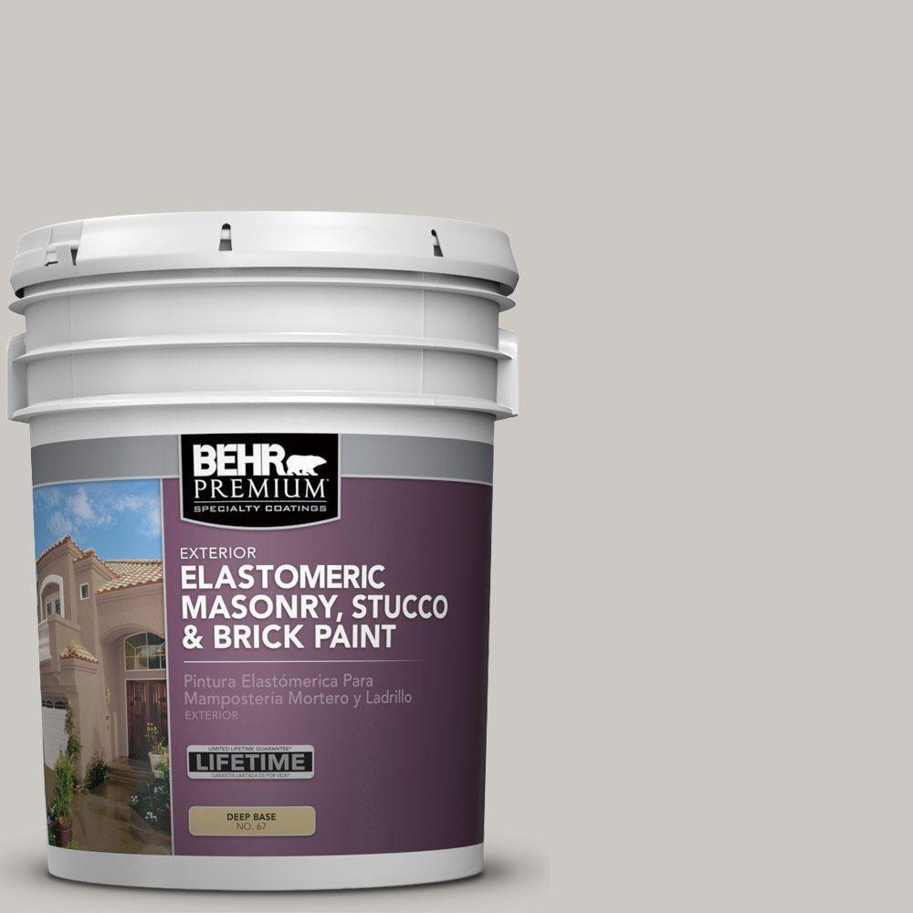 BEHR Premium Plus 5 gal. #MS-79 Silver Gray Pebble Elastomeric Masonry, Stucco and Brick Paint