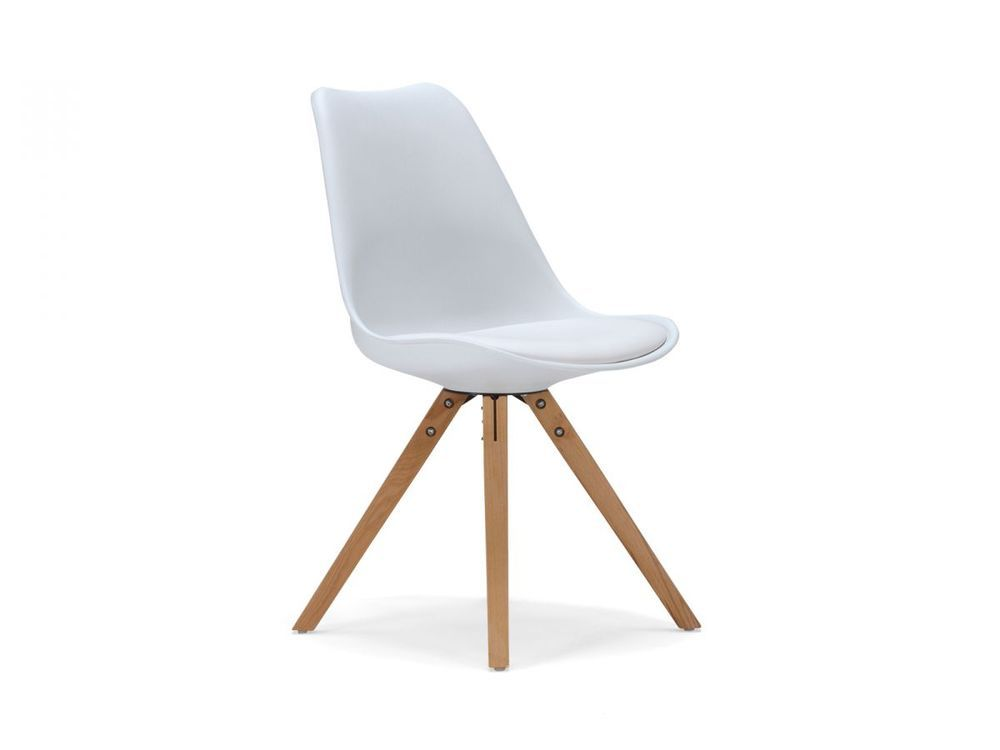 Designer Wohnen stuhl kunststoff weiss esszimmerstuhl retro designer möbel stühle
