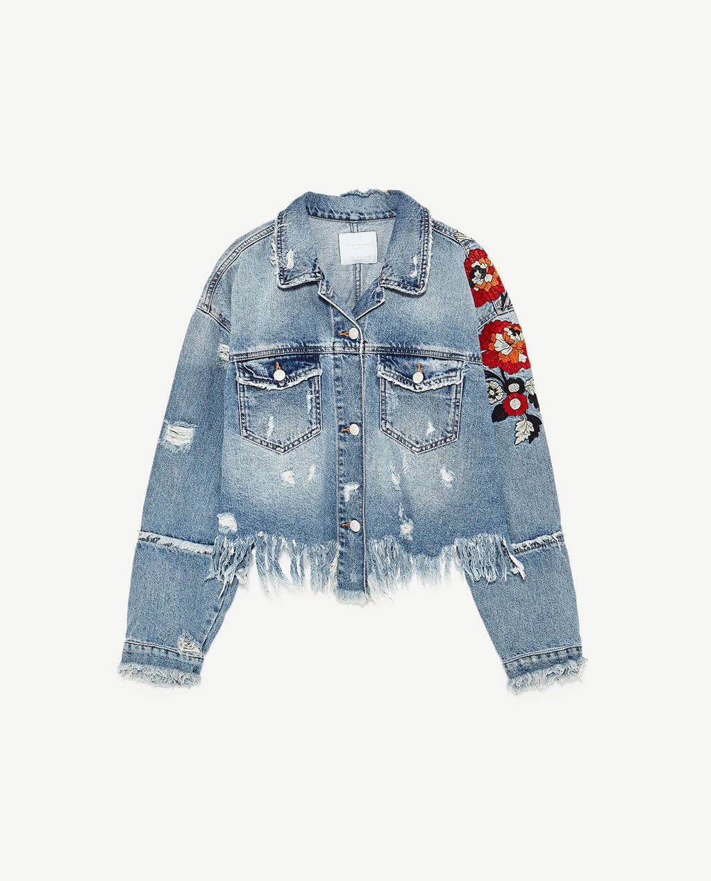 5a4577d6 Image 8 of EMBROIDERED DENIM JACKET from Zara | my style | Pinterest ...
