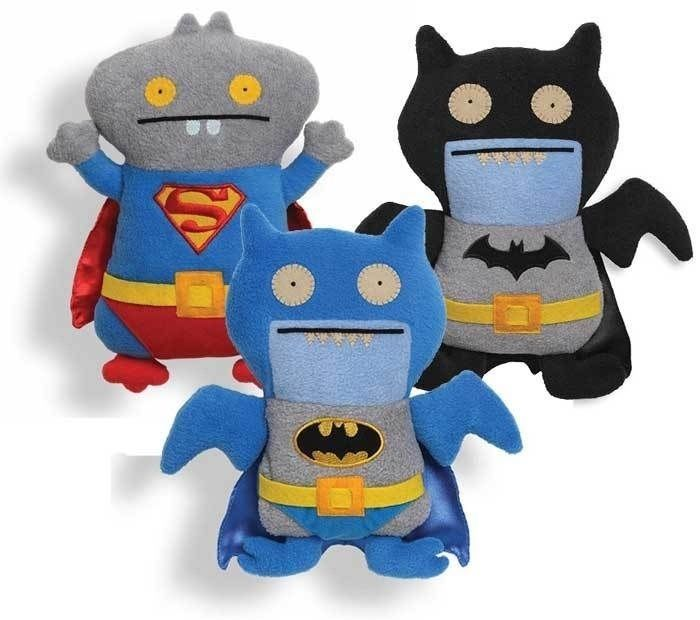 Superman Blue Ice Bat Black Ice Bat Batman Dc Comics Ugly Dolls Gund Set Of 3  #GUND