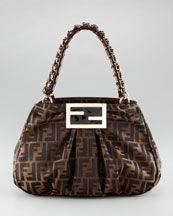 1e5ac4c6409b L8661 Fendi Mia Double-Chain Bag