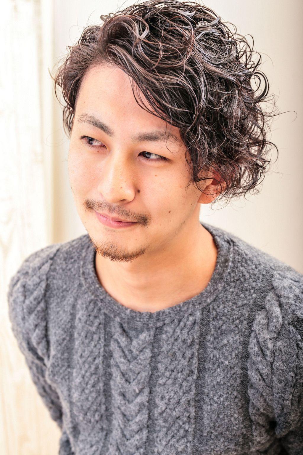 ヘアカタログ パーマ ブロック 髪型 メンズ ヘアスタイル パーマ