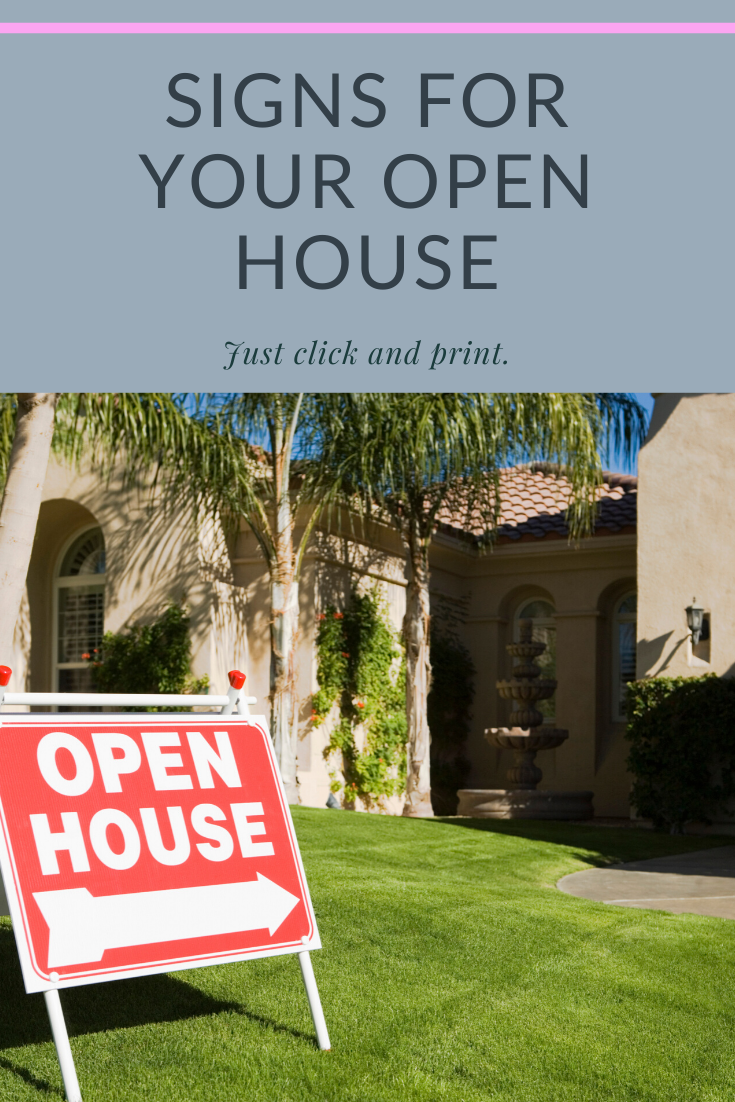 Click And Print Signs Open House Real Estate Client Real Estate Agent