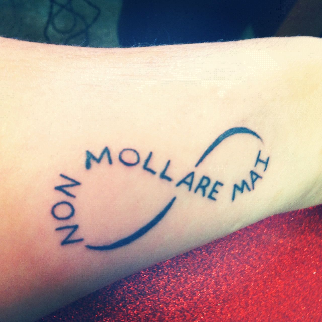 I Had This Tattooed On My Left Forearm Above My Wrist. NON