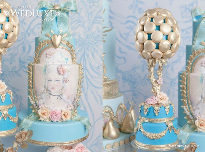 Close Up Of Details Love The Marie Pic Hochzeitsdesserts Kunst Am Kuchen Marie Antoinette